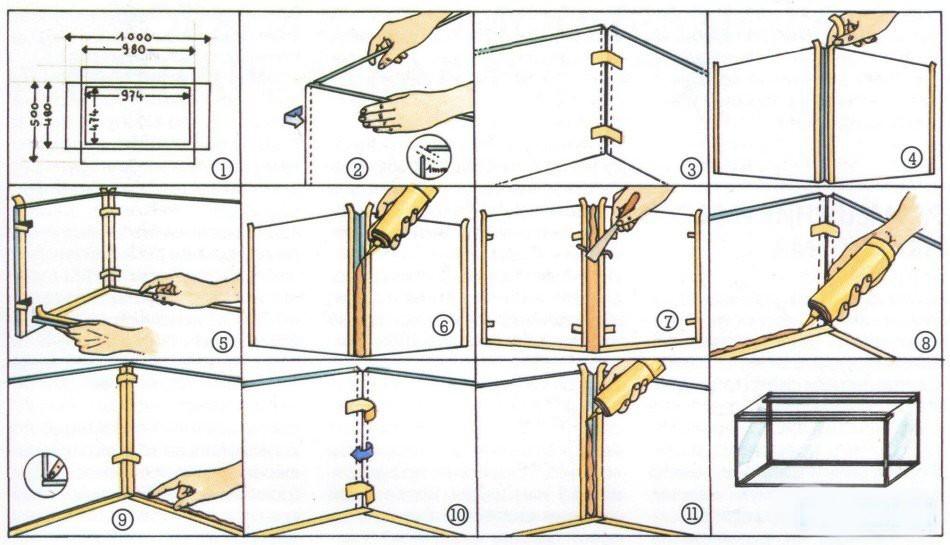 Как сделать аквариум своими руками на дому