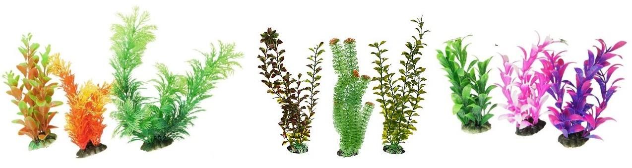 Искусственные растения для аквариума: описание,фото,видео